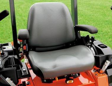 Kubota Z122E Zero-Turn Mower comfort