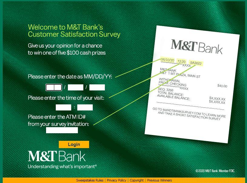 M&T BankGuest Feedback Survey