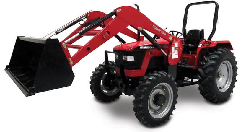 Mahindra 5545 4WD shuttle utility tractor