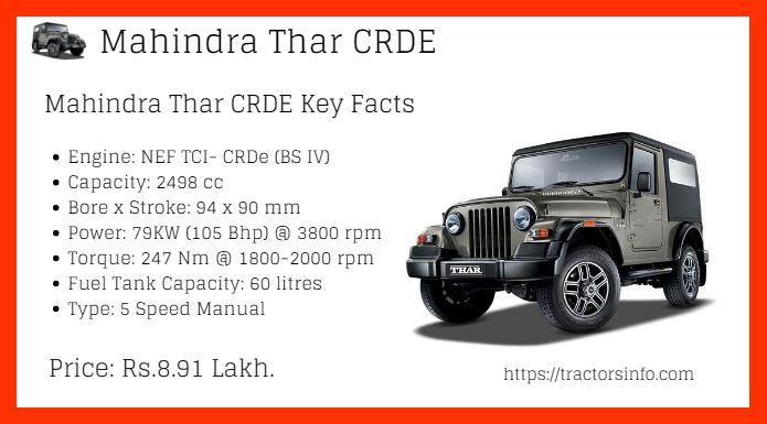 Mahindra Thar CRDE