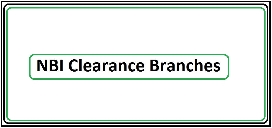 NBI Clearance Branches