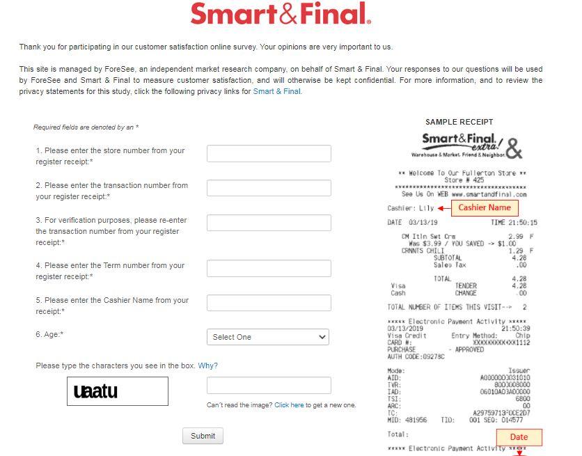Smart & FinalSatisfaction Survey
