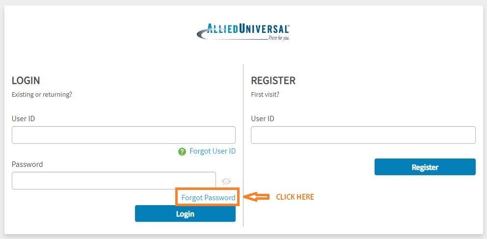 Allied Universal eHub forgot password 1