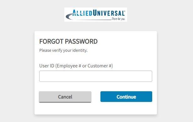 Allied Universal eHub forgot password 2