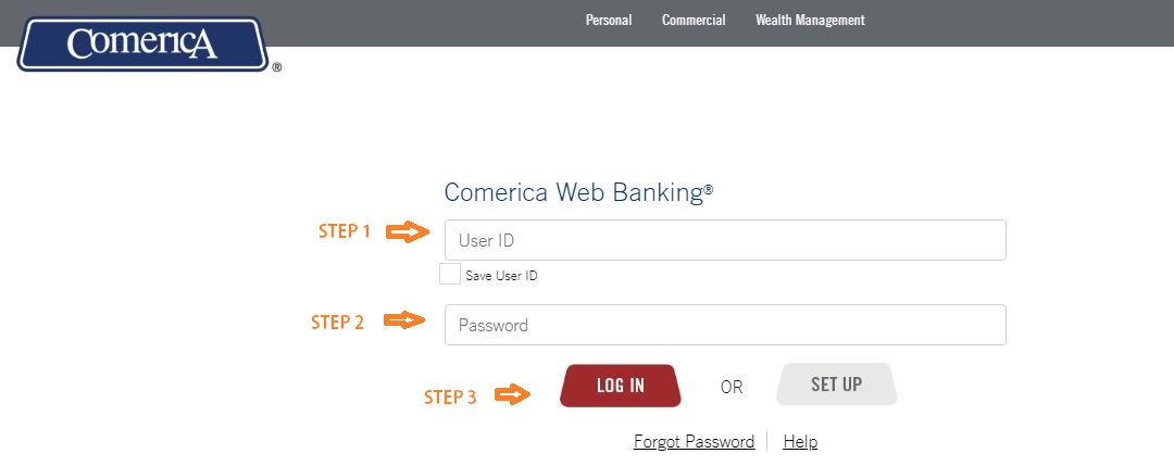 Comerica Web Banking Login
