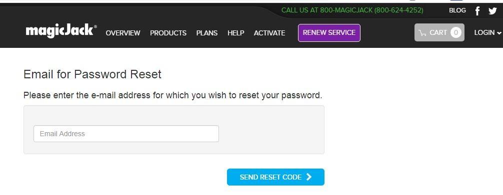 MagicJack Login forgot password 1
