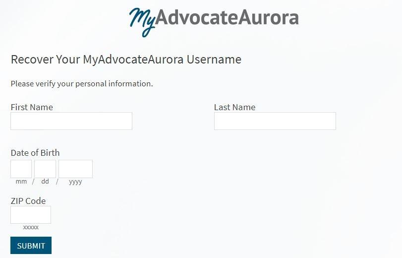 Myaurora forgot Username 2