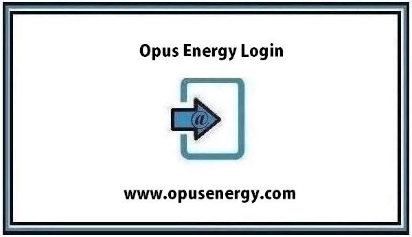Opus Energy Login page