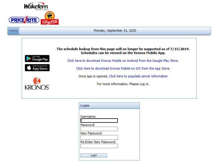 Shoprite Portal Login change password 2