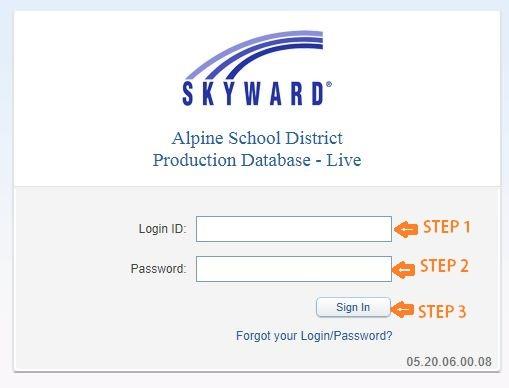 Skyward Alpine School District login