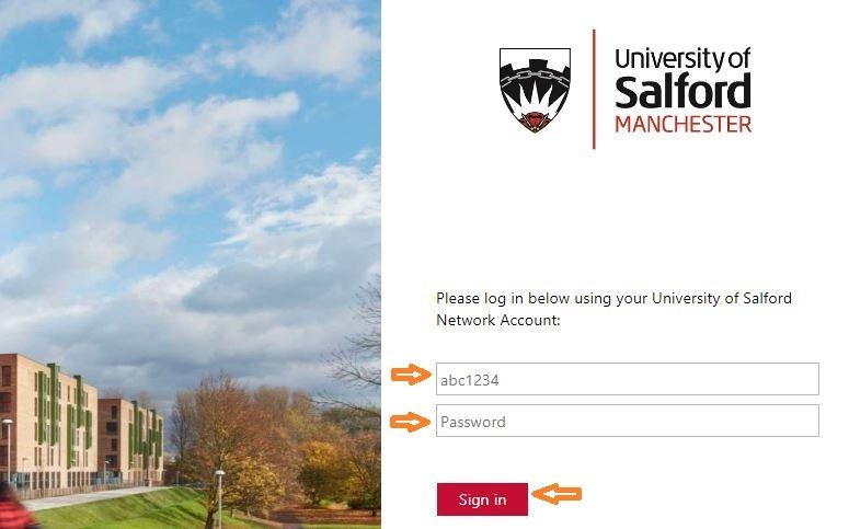 salford university email login