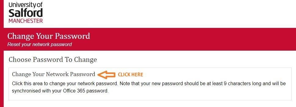 salford university login forgot password step 1
