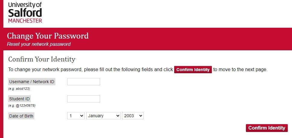 salford university login forgot password
