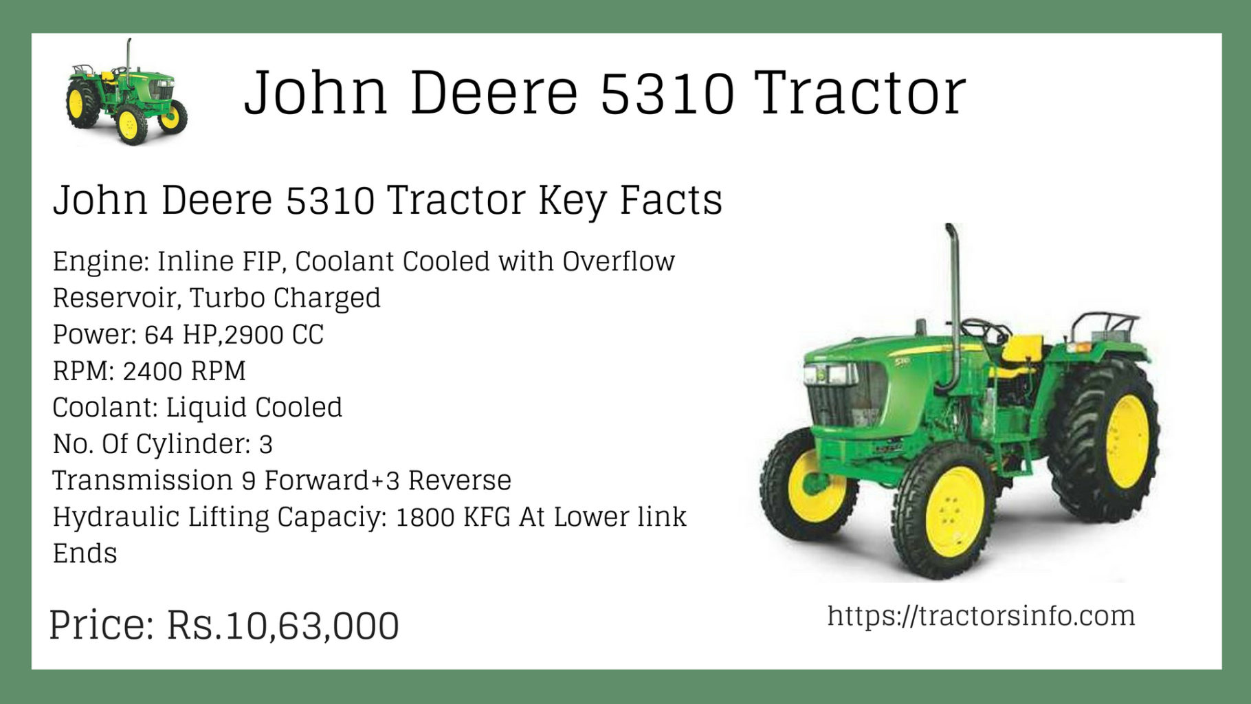 John deere 5310