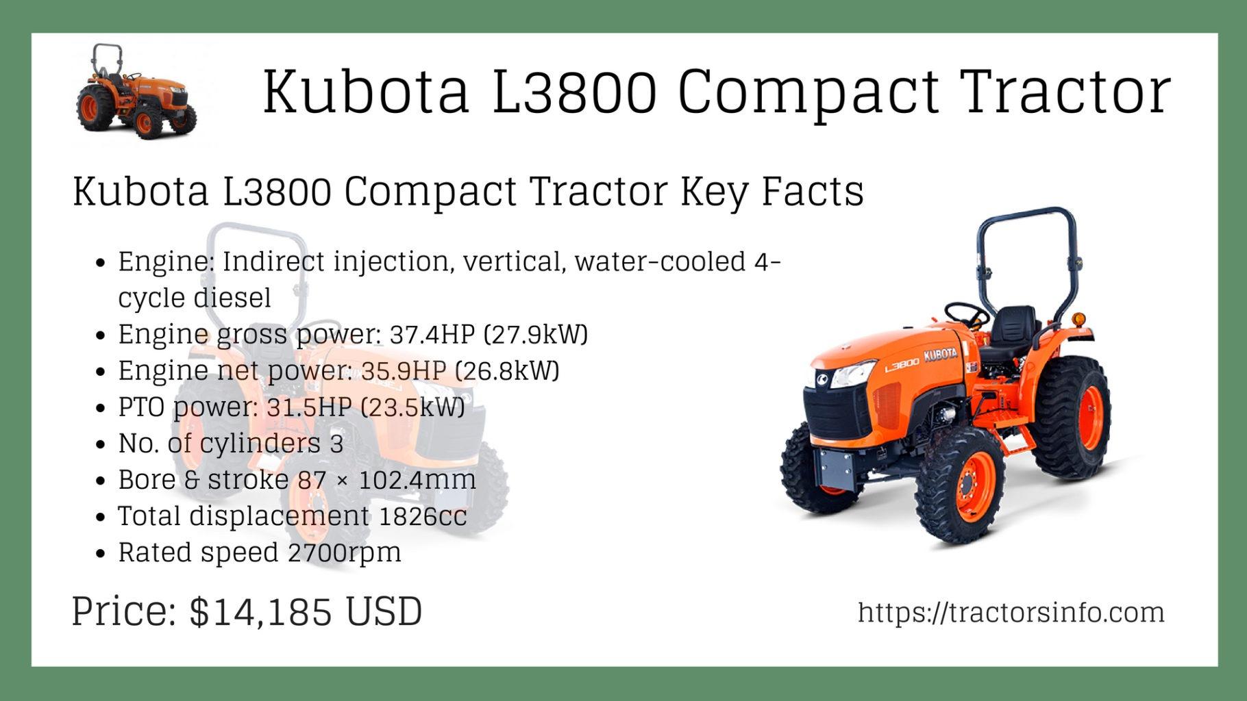 Kubota L3800 Compact Tractor