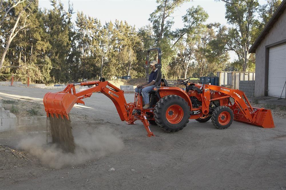 Kubota L3800 Compact Tractor BH77 Backhoe