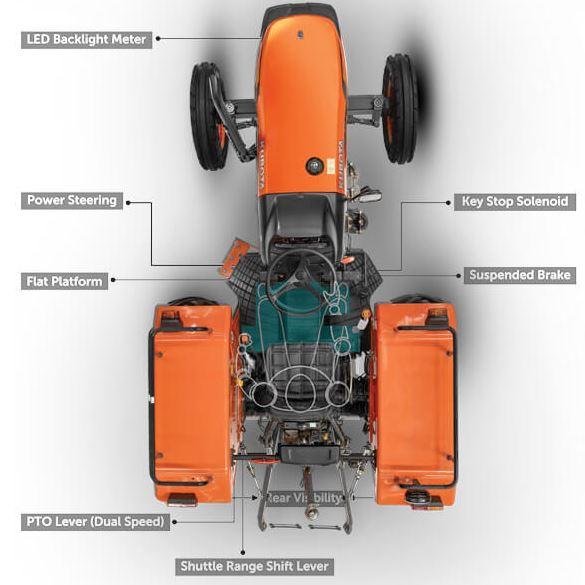 Kubota MU4501 2WD Tractor Key Features