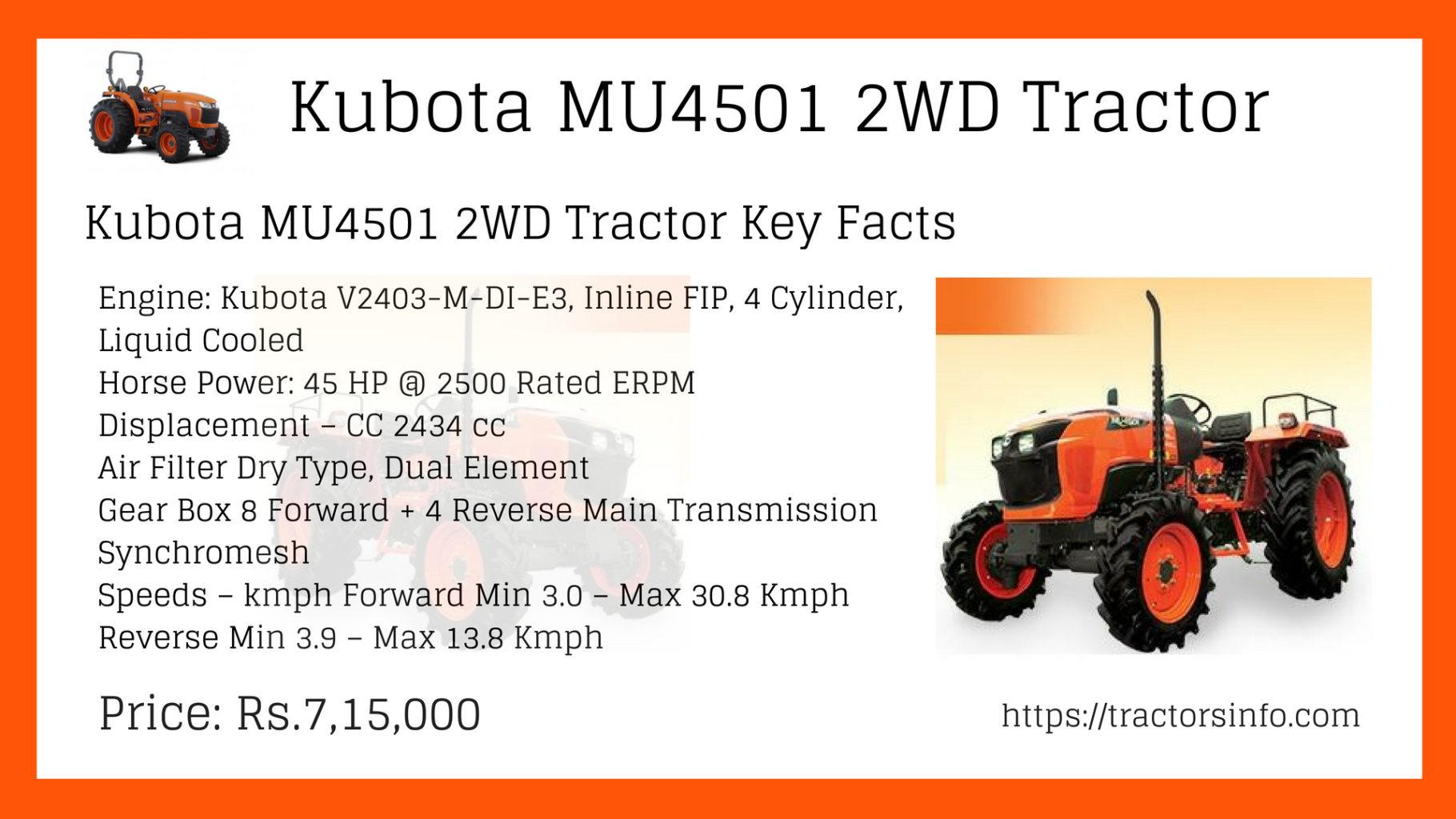 Kubota MU4501 2WD Tractor