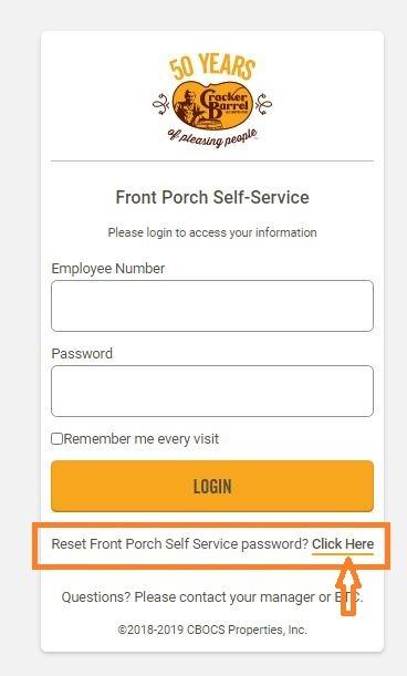 Cracker Barrel Employee Login forgot password 1