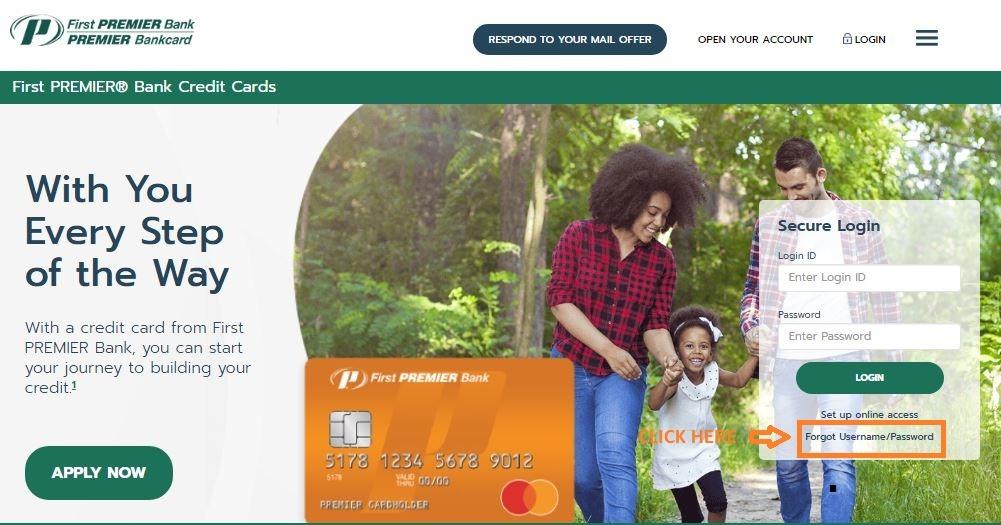 First Premier Credit Card Login forgot password