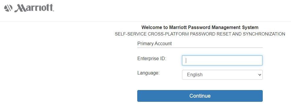 Forgot Marriott 4MyHR Password