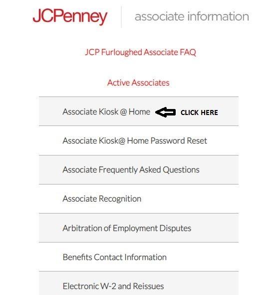 JCP Associate Kiosk Login 1