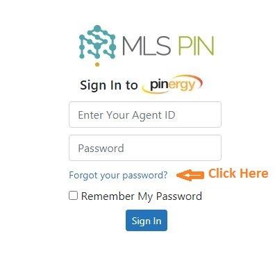 MLS PIN Login forgot password 1