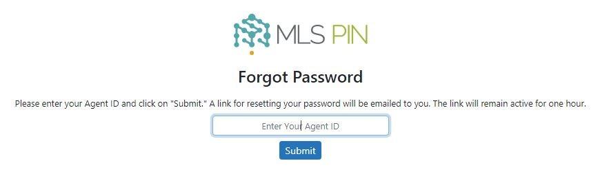 MLS PIN Login forgot password 2