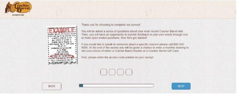 Cracker Barrel listens Survey